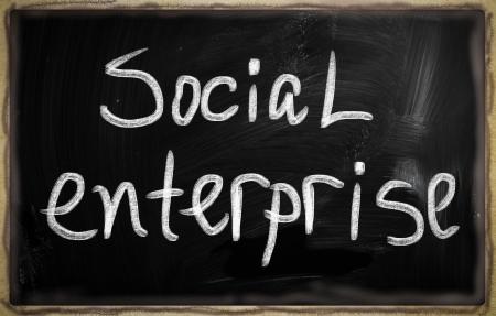 social media concept - text on a blackboard. Stock Photo - 20826021