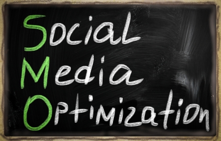 social media concept - text on a blackboard. Stock Photo - 20826025