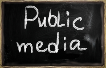 social media concept - text on a blackboard. Stock Photo - 20826065