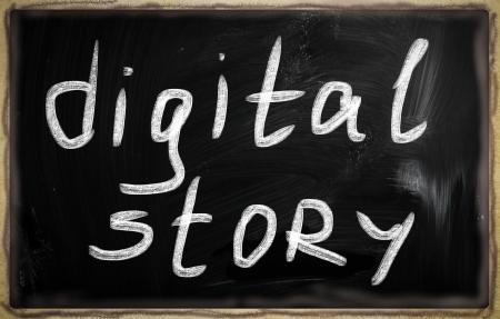 social media concept - text on a blackboard. Stock Photo - 20826085