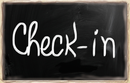 social media concept - text handwritten on a blackboard. photo