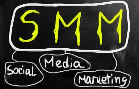 social media concept - text on a blackboard. Stock Photo - 21012586