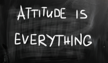positive attitude: Attitude is Everything Stock Photo