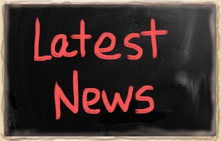 lately: Latest news Stock Photo