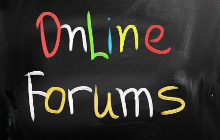 wikis: social media concept - text on a blackboard Stock Photo