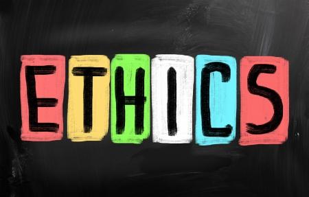"""valores morales: """"�tica"""", escrita a mano con tiza en una pizarra"""