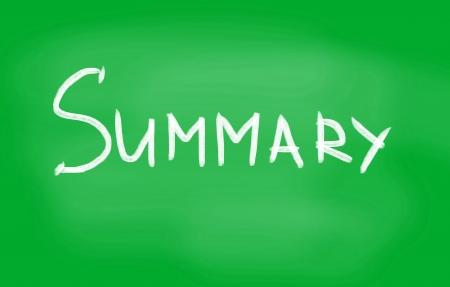 summary: summary Stock Photo