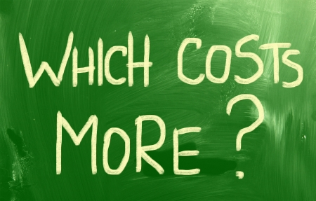 Which Costs More? Stock Photo - 22503560