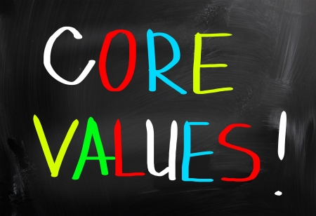 scruples: Core Values Concept Stock Photo