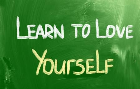zelf doen: Leer van jezelf te houden Concept