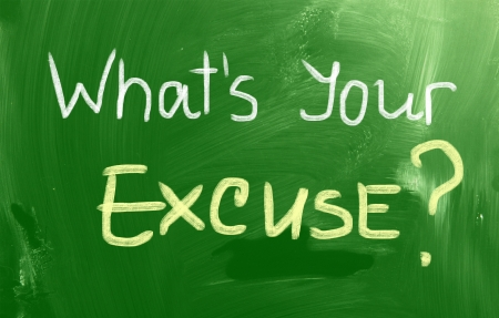 excuse: Whats Your Excuse Concept Stock Photo