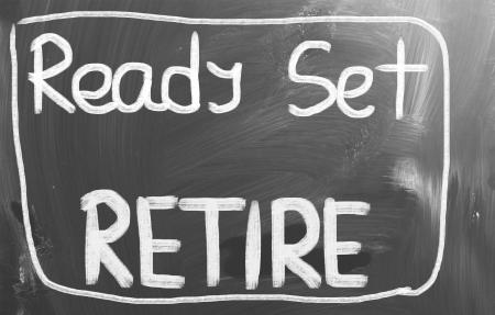 prendre sa retraite: Ready Set Adieu Concept Banque d'images