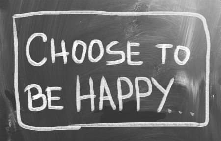 actitud positiva: Piense Concepto Positivo