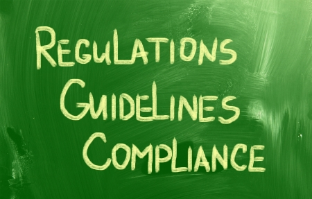 regulated: Compliance Guidelines Regulations Concept Stock Photo