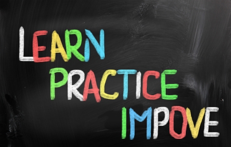 great success: Learn Practice Improve Concept Stock Photo