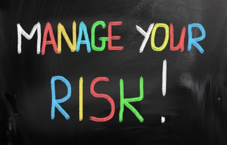 Manage Your Risk Concept Stock Photo