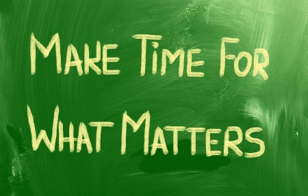 Make Time For What Matters Concept Stock Photo - 23049895