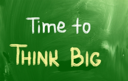 overachieving: Time To Think Big Concept