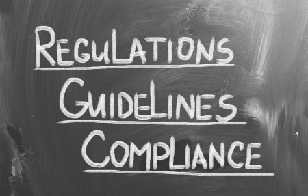 auditor�a: Cumplimiento de Normas Regulaciones Concept Foto de archivo