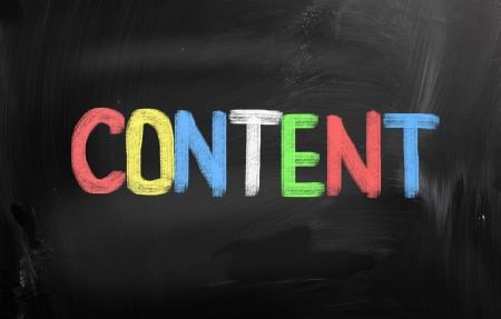 Content Concept photo