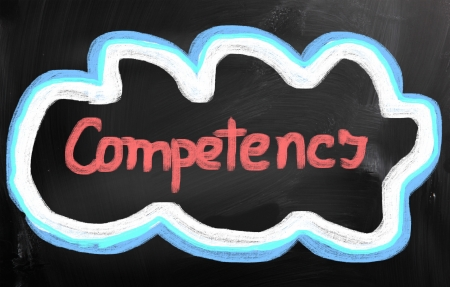 competent: Competence Concept Stock Photo