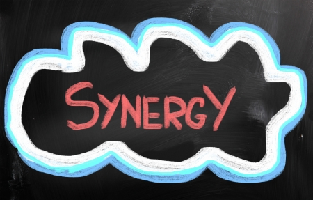 concurrence: Synergy Concept Stock Photo