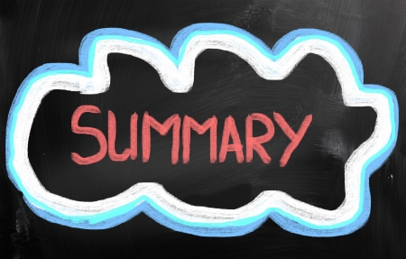 summary: Summary Concept Stock Photo