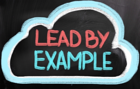 example: Lead By Example Concept Stock Photo