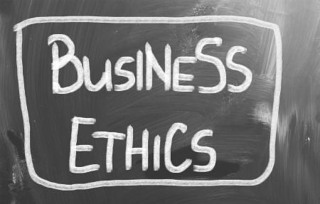 etica empresarial: Concepto Negocios �tica Foto de archivo