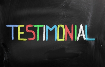 commendation: Testimonial Concept