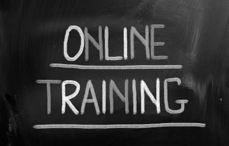electronically: Online Training Concept