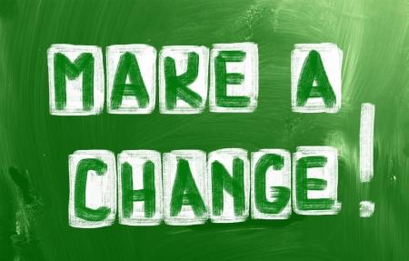 Make A Change Concept photo