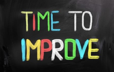 performance improvement: Time To Improve Concept Stock Photo
