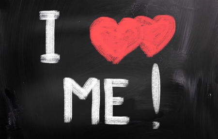 I Love Me Concept Stock Photo