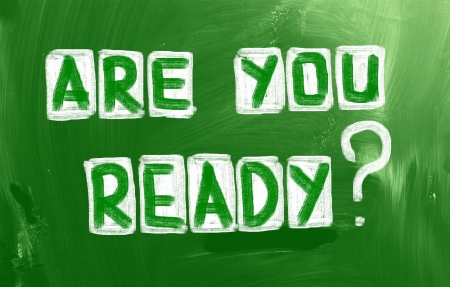 in readiness: Are You Ready Concept Stock Photo