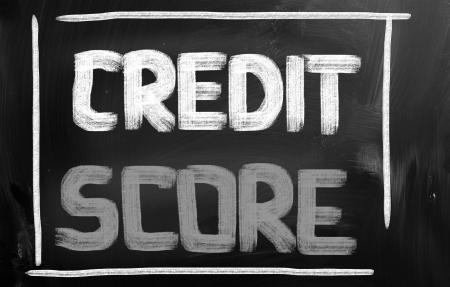 credit report: Credit Score Concept