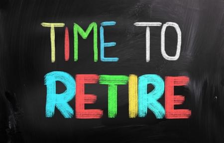 prendre sa retraite: Temps de se retirer Concept