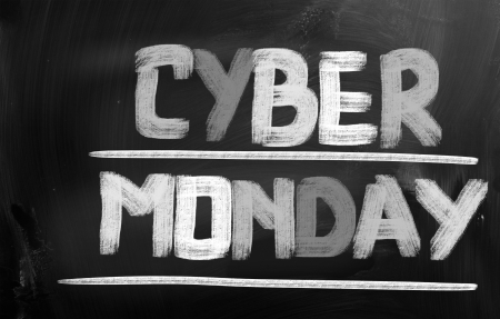 christmas profits: Cyber Monday Concept Stock Photo