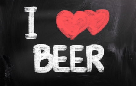 I Love Beer Concept photo