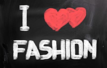 fashion week: I Love Fashion Concept Stock Photo