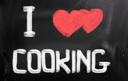 i love paris: I Love Cooking Concept