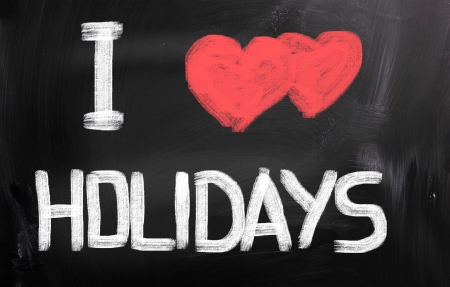 I Love Holidays Concept photo