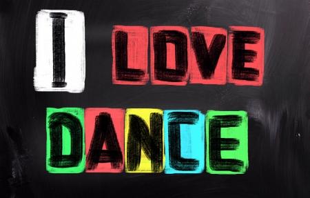 私はダンスの概念が大好き 写真素材
