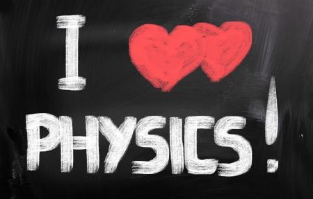 I Love Physics Concept photo