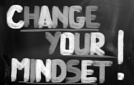 mindset: Change Your Mindset Concept Stock Photo