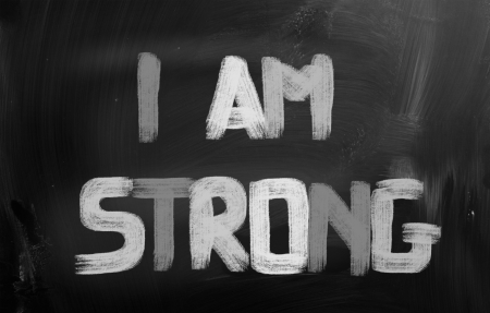 i am: I Am Strong Concept Stock Photo