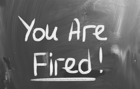 employment elementary school: You Are Fired Concept