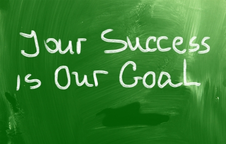 support team: Your Success Is Our Goal Concept