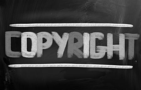 Copyright Concept photo