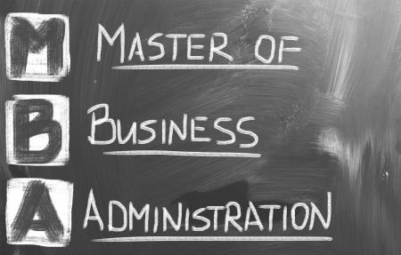economia aziendale: Master Of Business Administration Concetto Archivio Fotografico
